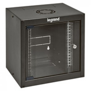 "Linkeo 10"" compact cabinet - capacity 6U - dimensions 358x370x300 mm - ready-assembled"