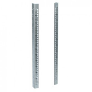 "Set of 2 additional 19"" uprights for Linkeo 19"" cabinets 21U - to install at the rear of the cabinet"
