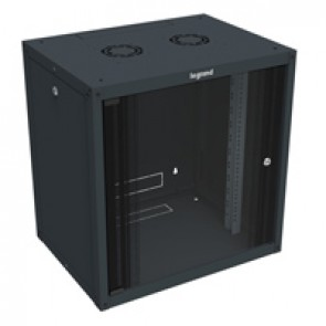 "Linkeo fix 19"" cabinet with removable side panels - capacity 18U - dimensions 871x600x450 mm - ready-assembled"