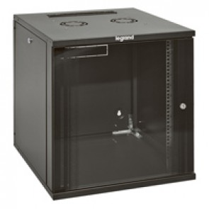 "Linkeo fix 19"" cabinet with removable side panels - capacity 9U - dimensions 471x600x600 mm - ready-assembled"