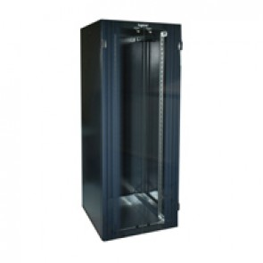 "Linkeo 19"" freestanding cabinet with double front glass door -capacity 42U - dimensions 2026x800x600 mm -ready-assembled"