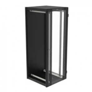 "Linkeo 19"" extension cabinet with single glass door - capacity 42U - dimensions 2026x800x800 mm - ready-assembled"