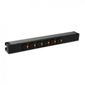"19"" PDU LCS³ - 1 U - 6 x C19 - IEC 60320 standard"