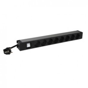 "19"" PDU LCS³ - 1 U - 8 x 2P+E - German standard - 1 luminous switch"