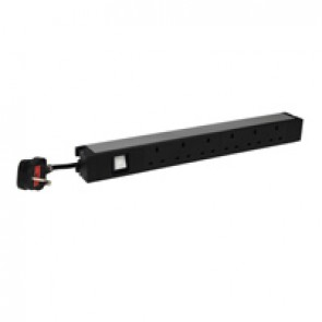 "19"" PDU LCS³ - 1 U - 6 x 2P+E - British standard - 1 luminous switch"