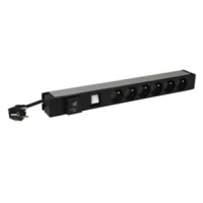 "19"" PDU LCS³ - 1 U - 6 x 2P+E - French standard - with SPD"