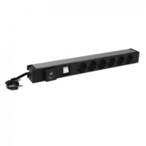 "19"" PDU LCS³ - 1 U - 6 x 2P+E - German standard - with SPD"
