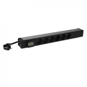 "19"" PDU LCS³ - 1 U - 6 x 2P+E - German standard - with ammeter"