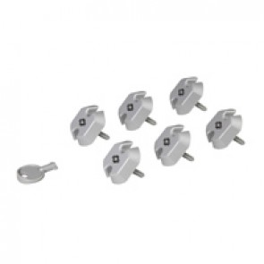 Set of 6 locking caps for French/German standard outlet + 1 key - for PDU LCS³