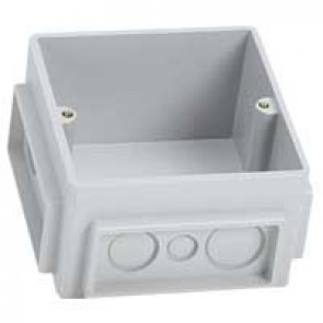 Flush mounting box - for floor sockets - 3 modules - plastic