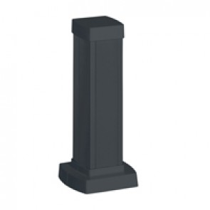 Snap-on mini-column - 1 compartment 2 sides - height 0.30 m - aluminium body - PVC covers - black finish