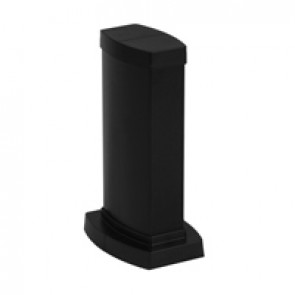 Snap-on mini-column - 2 compartments - height 0.30 m - aluminium body - PVC covers - black finish