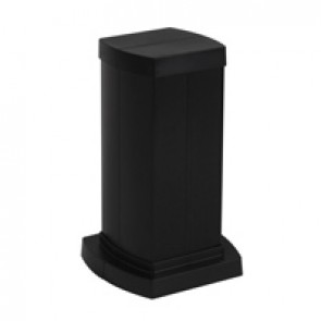 Snap-on mini-column - 4 compartments - height 0.30 m - aluminium body - PVC covers - black finish