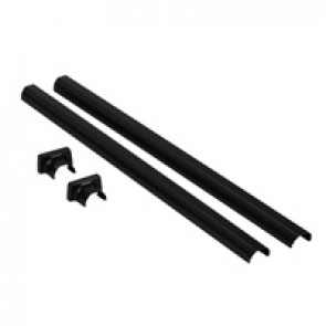 Finishing kit for telescopic pole for 1 or 2 compartments snap-on columns - 2 PVC covers and a base - black finish
