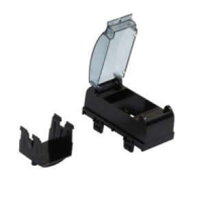 Adaptor for modular wiring accessories - for snap-on trunking - black