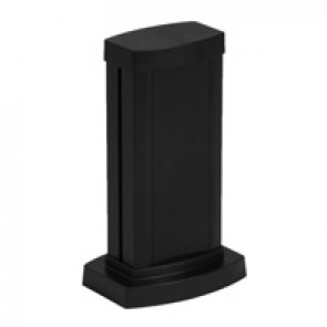 Universal mini-column - 1 compartment - height 0.30 m - aluminium body and covers - black finish