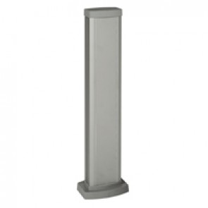 Universal mini-column - 1 compartment - height 0.68 m - aluminium body and covers - aluminium finish