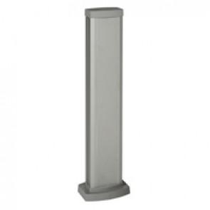 Universal mini-column - 1 compartment - height 0.68 m - aluminium body and covers - aluminium finish