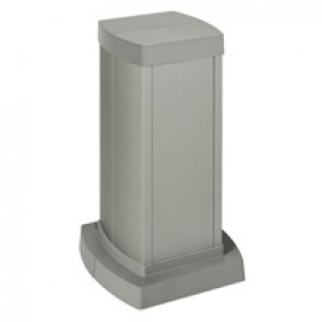 Universal mini-column - 2 compartments - height 0.30 m - aluminium body and covers - aluminium finish