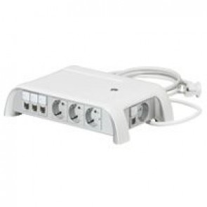 Meeting room multi-outlet extension-for central table-with non manageable switch