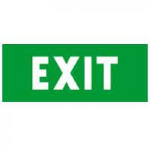 Label - for emergency lighting luminaires - ''EXIT'' - 310x112 mm
