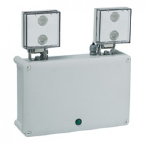 Standard LED emergency luminaire Twinspot - non autotest - 2 x 450 lm - 1h