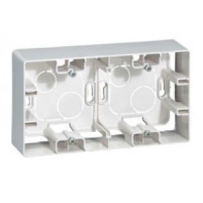 Surface mounting box Niloé - 2 gang - white