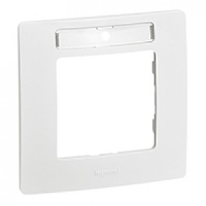 Plate Niloé - 1-gang - with label-holder - white