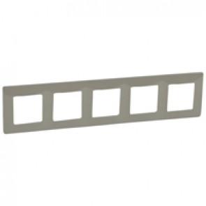 Plate Niloé - 5 gang - taupe