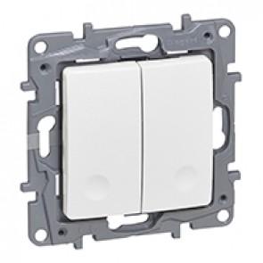 Radio switch Niloé - control unit - transmitter 2-gang switch - white