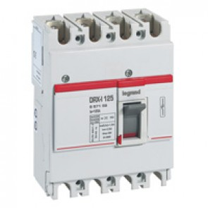DRX-I 125 trip-free switch for on-load circuit breaking and isolation of low voltage electrical circuits - 4P - 125 A