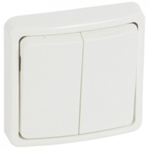 Switch Plexo 66 - 2 gang - 2 way - 20 A 250 V~ - flush mounting