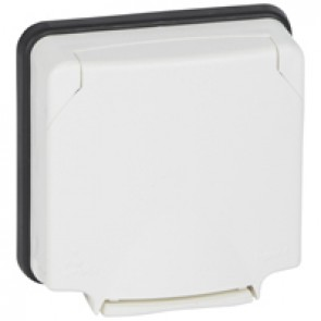 Adaptor Mosaic- Plexo 66 - 2 modules - opaque lid - flush mounting