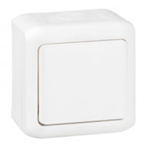 One-way switch Forix - surface mounting - 10 AX 250 V~ - white
