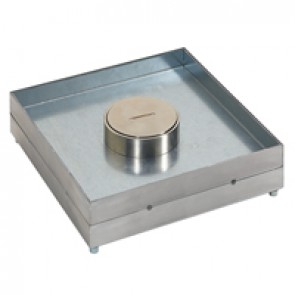Edge trim for tile 8 to 24 mm thickness - IP44 - with central cable exit