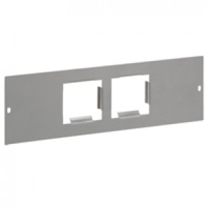 Flat support plates for Arteor mechanism for 4 modules - 2 x 2 modules