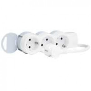Multi-outlet extension - 3x2P+E - 1.5 m cord