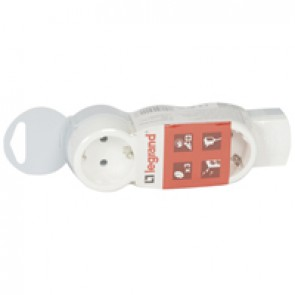 Standard multi-outlet extension - 3x2P+E - without cord