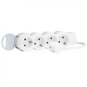 Multi-outlet extension - 4x2P+E - 5 m cord