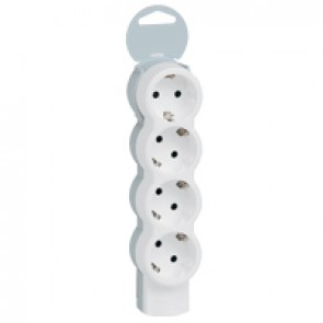 Standard multi-outlet extension - 4x2P+E - without cord