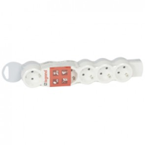 Standard multi-outlet extension - 6x2P+E - without cord