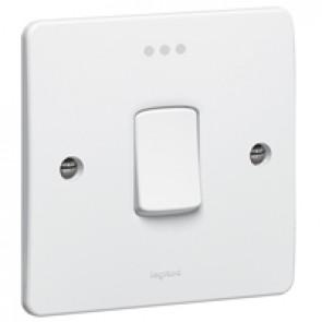 Double pole switch Synergy - Double pole + indicator - 20 A 250 V~ - white