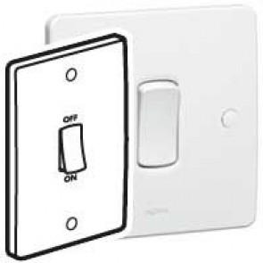 Double pole switch Synergy - Double pole - 45 A 250 V~ - 146x86 mm - white