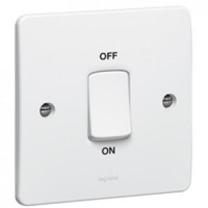Double pole switch Synergy - Double pole - 45 A 250 V~ - 86x86 mm - white