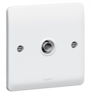 TV socket Synergy - single - male - white