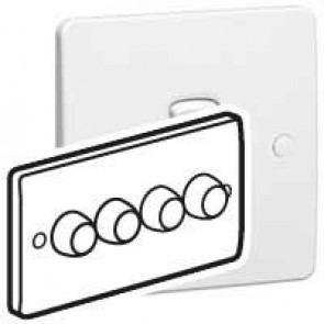 Rotary dimmer Synergy - 4 gang - 2 way - 400 W- 100/240 V~ - 50/60 Hz - white