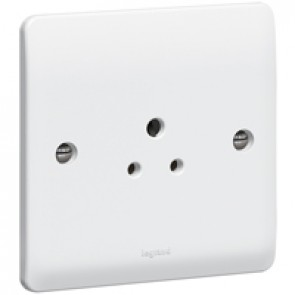 Socket outlet Synergy - 1 gang unswitched - 2 A 250 V~ - white