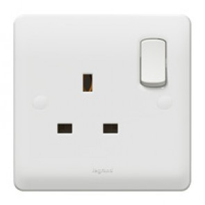 Double pole socket outlet Synergy - 1 gang - 13 A 250 V~ - white