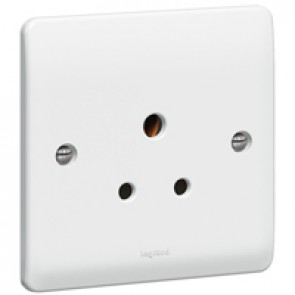 Socket outlet Synergy - 1 gang unswitched - 5 A 250 V~ - white