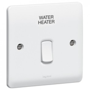 Double pole switch Synergy - Double pole ''water heater'' - 20 A 250 V~ - white